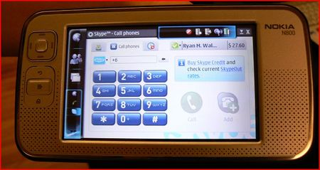 Skype running on the N800